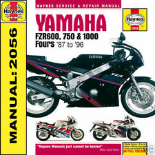 Yamaha FZR600 FZR750 FZR1000 EXUP 1987-1996 Haynes Manual 2056 NEW