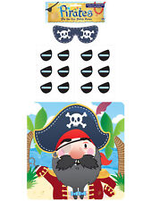 Stick The Eye Patch On The Pirate Game - Party Childrens Kids Pin Tail Activity
