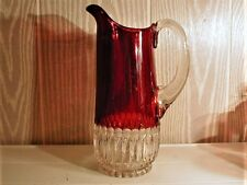 EAPG *** REDUCED = RUBY STAINED = MARIO = WATER PITCHER  = 1890'S ERA
