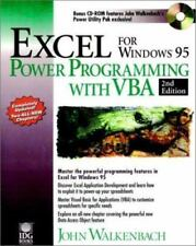 Excel for Windows 95 Power Programming with VBA Walkenbach, John Paperback