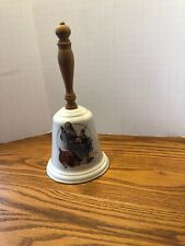 Gorham Fine China Norman Rockwell 1975 Santa's Helpers Bell