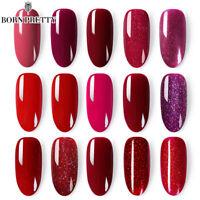 BORN PRETTY Peel Off Nagellack Rot Farben Nagel Lack Glitter Maniküre 6ml