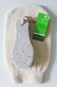 Spa Sense, Exfoliating Wash Mitt / Glove & Pumice Stone - New