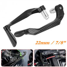 Pair Black Carbon Fiber Aluminum Alloy Motorcycle Brake Clutch Levers Protection
