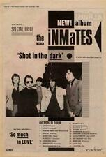 Inmates The Tour Advert NME Cutting 1980