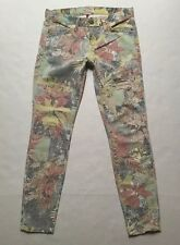 Current Elliott **Stiletto** Crop Jeans In Tropical Safari Size 25