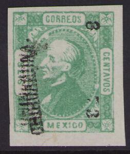 cv06 Mexico #93 6ctv Chihuahua 8-73 double Ovpt Mint No Gum Ex-Fine est $10-20