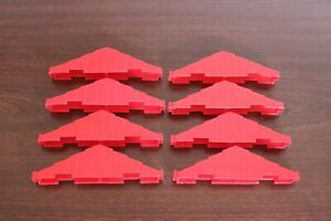 Lincoln Logs Lot of 8 Vintage Plastic Dark Red 2 Notch Roofing Trusses