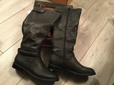 claudia ghizzani Tall Black Ankle Detail Boots Caribou Size 4 Boot Zip Details