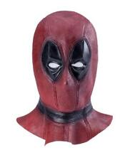 Lujo para Adultos para Hombre Máscara De Látex Deadpool Fancy Dress Costume Superhéroe Comic Con