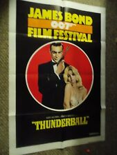 JAMES BOND FILM FESTIVAL THUNDERBALL(1975)SEAN CONNERY AS BOND ORIG 1SHEET