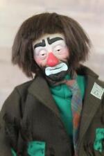 "Vintage Musical Clown Emmett Kelley 12 "" by May Lei Brown Hair Eyes Collectible"