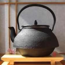 Tetsubin Japanese style Cast Iron black hobnail Kettle 2L