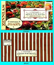 Zinnias - Vintage Seed Packets  First Day Cover with Color Cancel