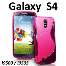 Accessoire Housse Coque Etui S Line Gel Samsung Galaxy S4 I9500 / I9505 +Film