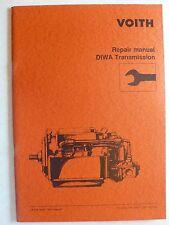 Voith DIWA trasmissione-Repair manual, 1991, 54 pagine, inglese