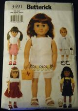 """BUTTERICK PATTERN 3491 FOR AMERICAN GIRL OR ANY 18""""DOLL"""