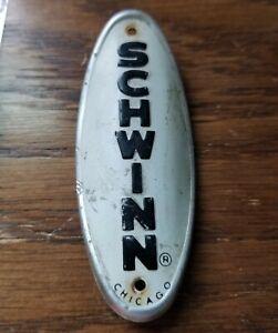 1968 Schwinn Chicago Head Tube Badge Original