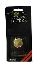 "Amerock 1-1/4"" Diameter Mushroom Cabinet Knob, Polished Solid Brass - Lot of 11"