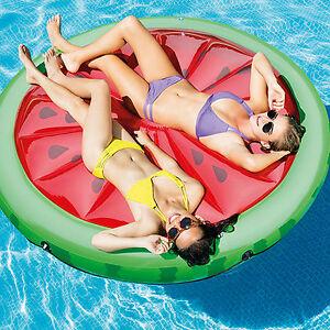 Intex Inflatable Pool Lilo Watermelon Island Lounger Swimming Float Beach 2 Man