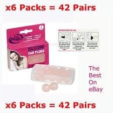 x7 Pairs x6 Packs HUSH PLUGZ Silicone Earplugs Ear Plugs Ear Defenders