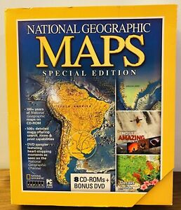 National Geographic Maps Special Edition 8 cd-rom + Bonus DVD PC set 2005