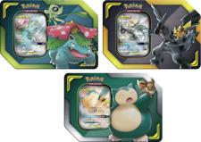Pokemon 2019 Tag latas de equipo conjunto de 3 Pikachu & Zekrom, Eevee & Snorlax, Celebi & Venu