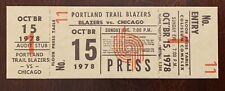 1978 Mychal Thompson NBA Debut first game season opener full ticket stub Lakers