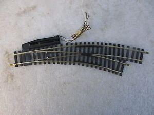 aiguillage courbe électrique jouef maillechort circuits trains électriques ho
