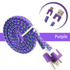 New 3FT Purple Rope Micro USB Cable for Huawei Honor 4A 7 Bee Y625 P8Lite P8max