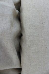 toile de lin naturel lourde beige en 280 cm de large