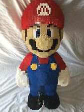 "30"" Lego Sculpture Mario UCS Collectors Rare Nes Art HUGE Statue Custom Moc"