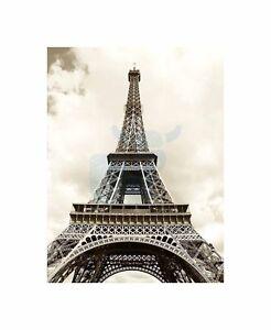 Eiffel Tower Sepia Paris France Iconic Art Picture Canvas Print