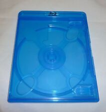 (1) Empty Blu-ray Case 10mm 1-Disc DOUBLE w/ Logo Authentic Replacement NEW!