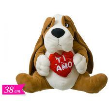 Peluches AMORE cane cuore TI AMO 38 cm idea regalo innamorati SAN VALENTINO