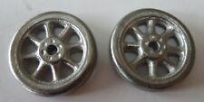 "Arcade vehicle pair of replacement cast metal 1 3/8""  diameter spoke wheel"
