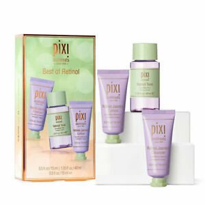 New Pixi Skintreats 'Best Of Retinol' 3PC Set Cleanser Retinol Tonic Lotion UK