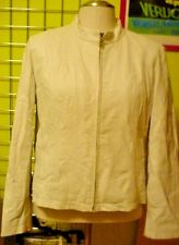 Vintage 80's White Leather Jacket WM's XlL Wilsons Maxima Leather LQQK!