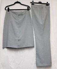 For Women Grey Pinstripe Trousers & Skirt Set Size 16 32W 30L Pencil Skirt - A29