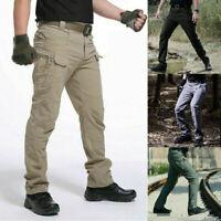 Men's Tactical Trousers Combat Outdoor Windproof Hiking Military Cargo Pants