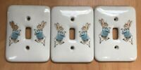 3 X WEDGWOOD PETER RABBIT - LIGHT SWITCH COVER