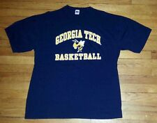 Russell Athletic T-Shirt XL Georgia Tech Basketball Graphic Blue Gold s3389