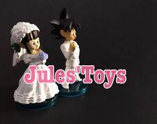 SET OF 2 Dragon Ball Z  GOKU and ChiChi Wedding Cake Topper Figures US Seller !