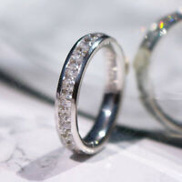 3.00 Ct Princess Cut Diamond Wedding Anniversary Band Ring 14k White Gold Finish