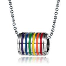 Transgender Transexual LGBT Gay Pride Rainbow Steel colgante para collar