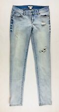 I Love H81 Women's Jeans Size 27 Distressed Skinny Stretch Light Wash