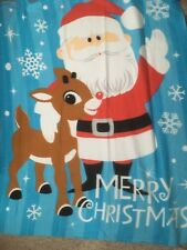 "Super Soft Microfiber Fleece Throw Blanket SANTA CLAUS 68/"" x 52/"" New"