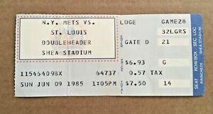 Dwight Doc Gooden Win #26 June 9 1985 6/9/85 Mets Cardinals Ticket Stub DH