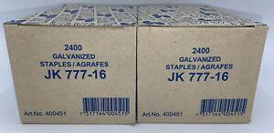 """JK 777-16, 5/8""""  Plier Staples, 1/2"""" Crown 19 Gauge 4800 pcs. Carton Staples"""