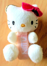 "PEZ / SANRIO HELLO KITTY Dispenser Cloth ""fur""- posable arms/legs& keychain clip"